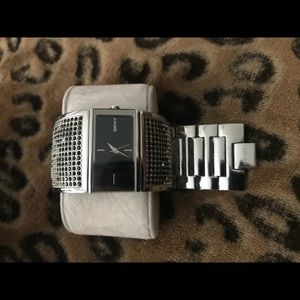 Black and Silver woman's Watch